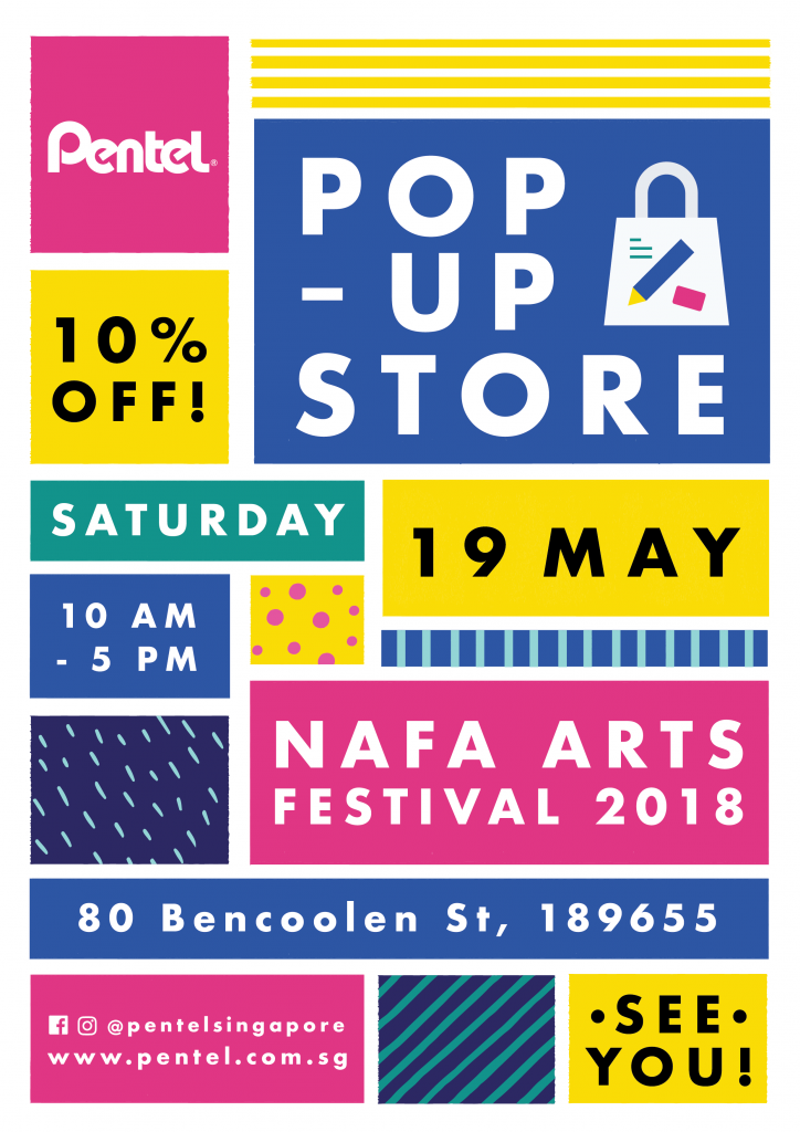 Come Find Us If You Are Around NAFA On 19 May 2018 Saturday As Can Get Your Favourite Art Supplies At 10 OFF Where 80 Bencoolen Street